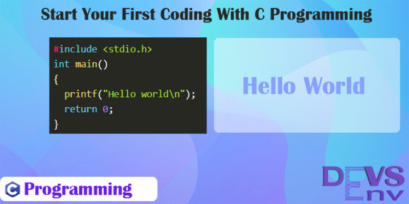#1 Start Your First Coding With C Programming
