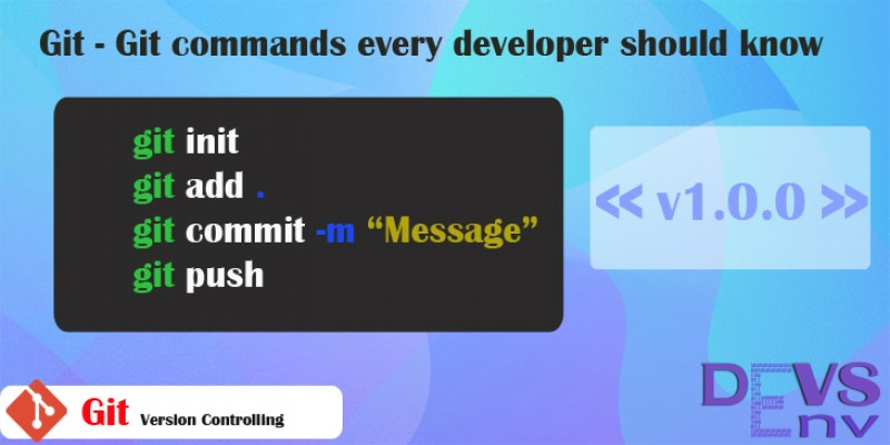 Git commands every developer should know