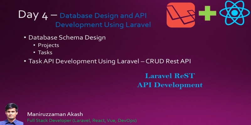 Day 4 - Database Schema Design of Laravel React Task Management Application