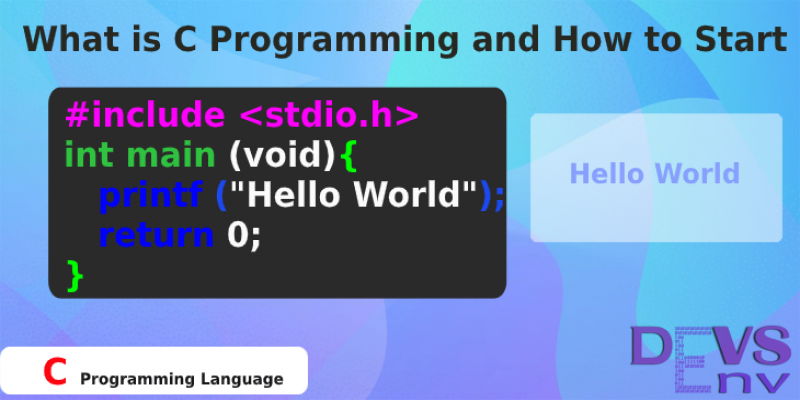 #0 What is C Programming and How to Start