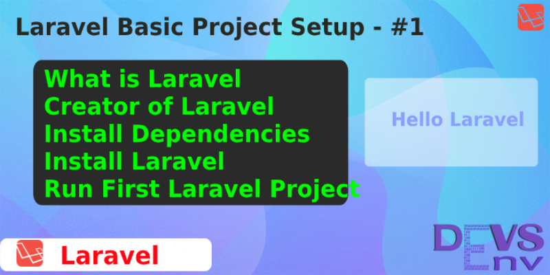 #1 Laravel Project Setup and Installation