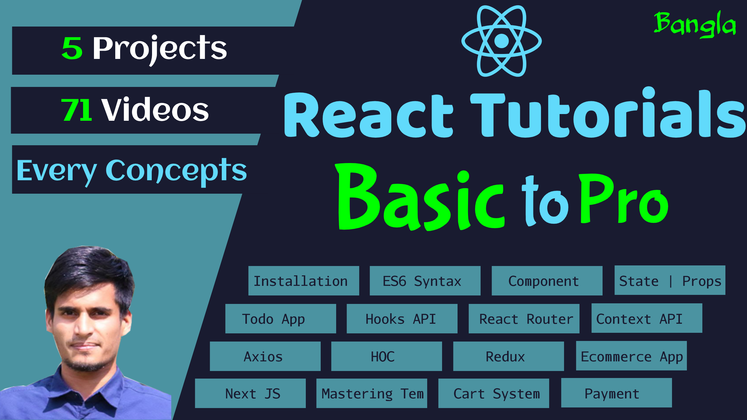 React Tutorials - Beginner to Pro - A Complete React Tutorial Series