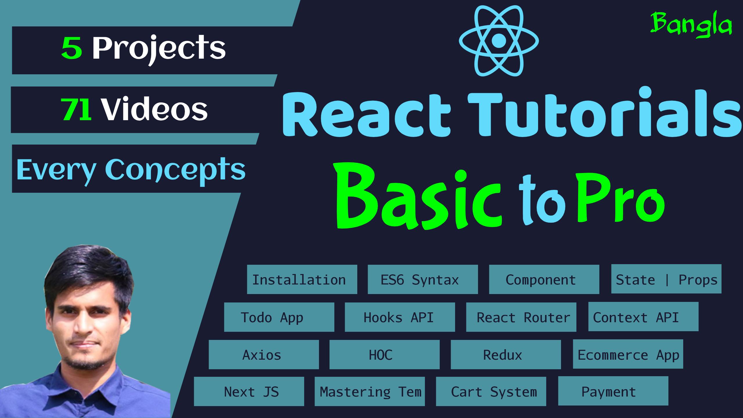 React Tutorials - Beginner to Pro - A Complete React Tutorial Series