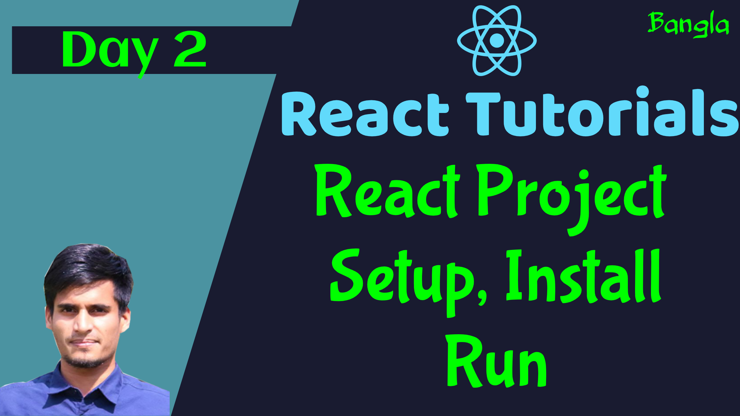 #2 Install React Project with CLI & Run Our First React App