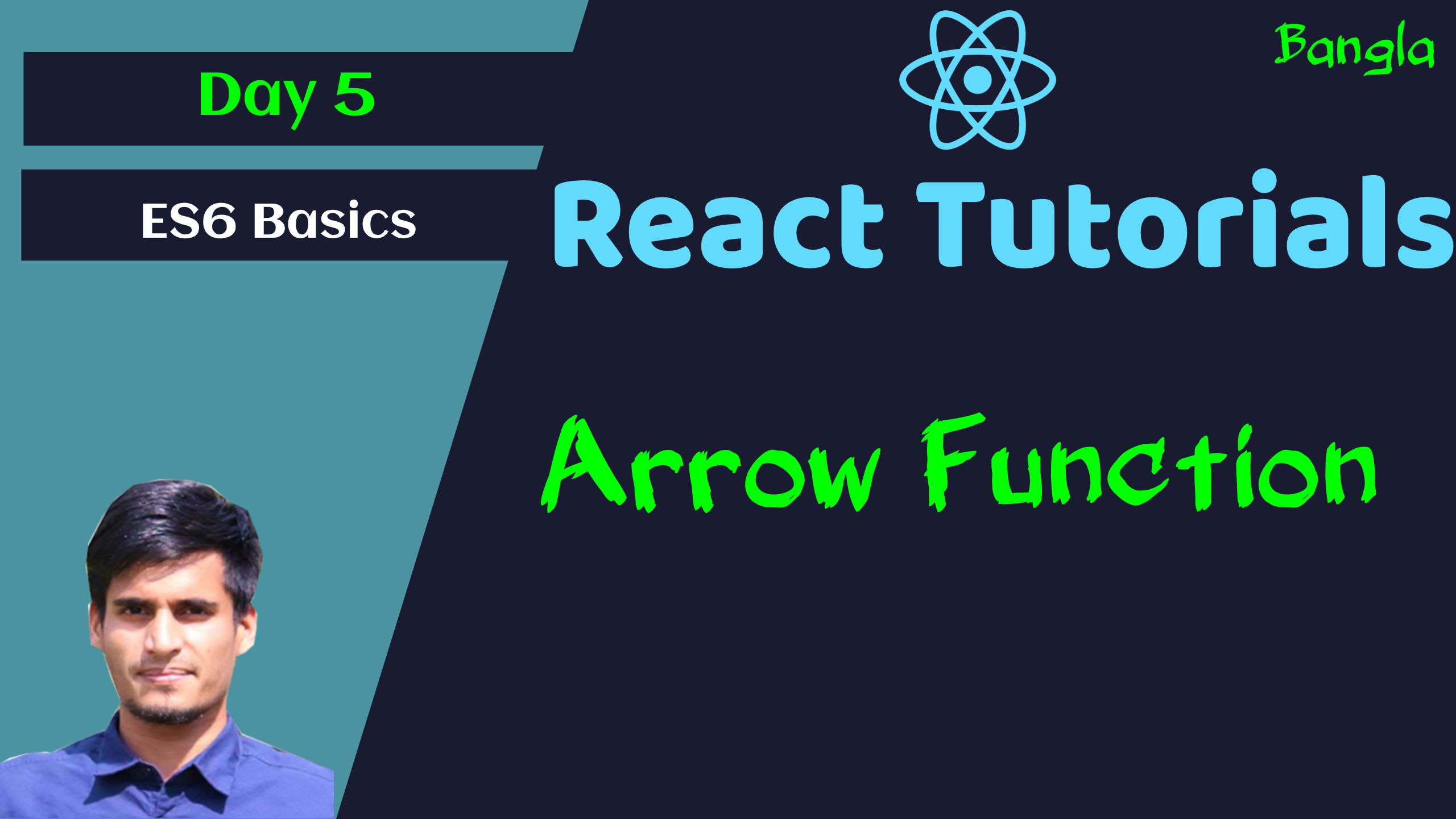 #5 ES6 Basic - Arrow Function in Javascript - React Basic to Pro