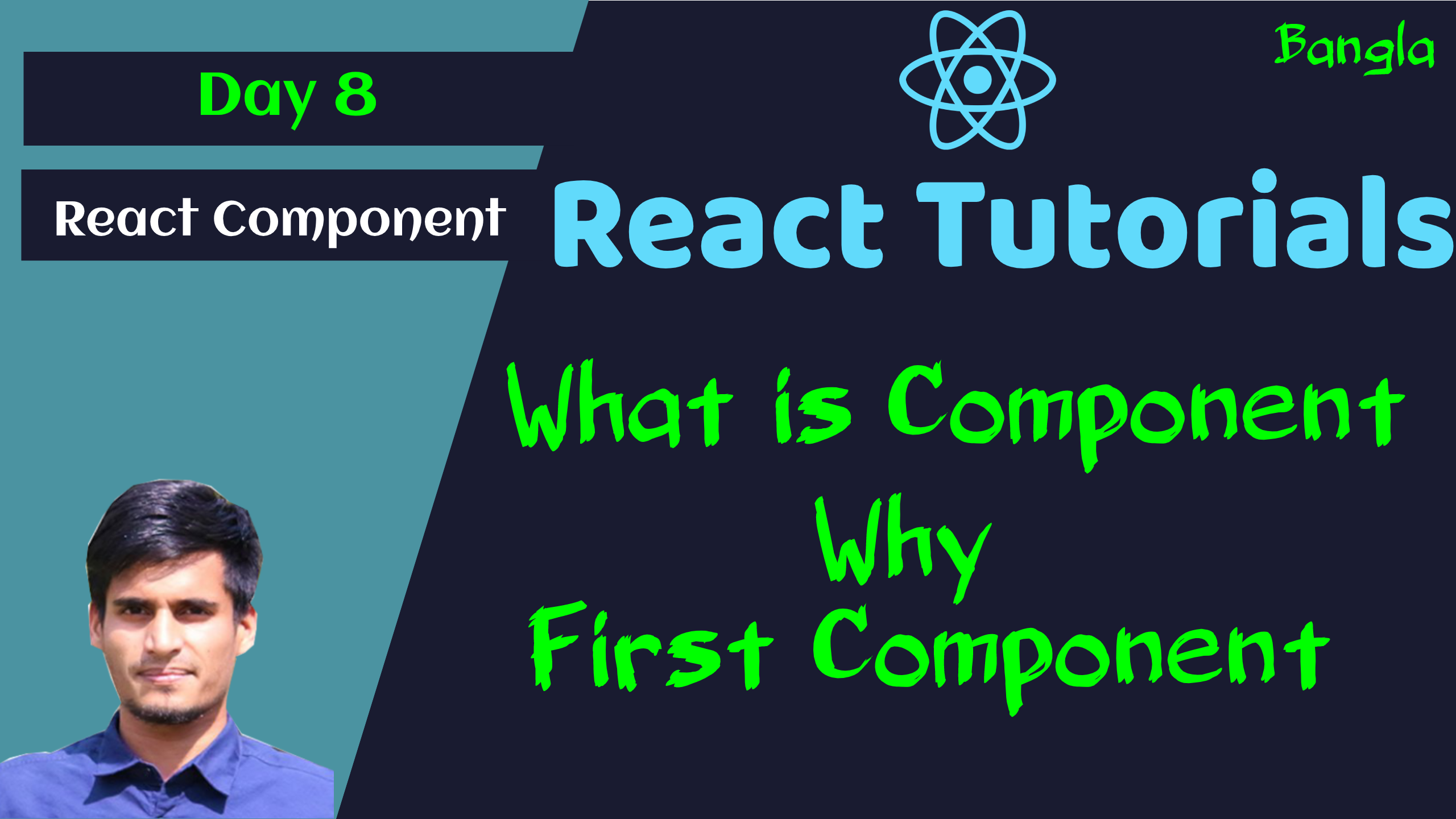 #8 React Component - Create Component - Types of Component - Example
