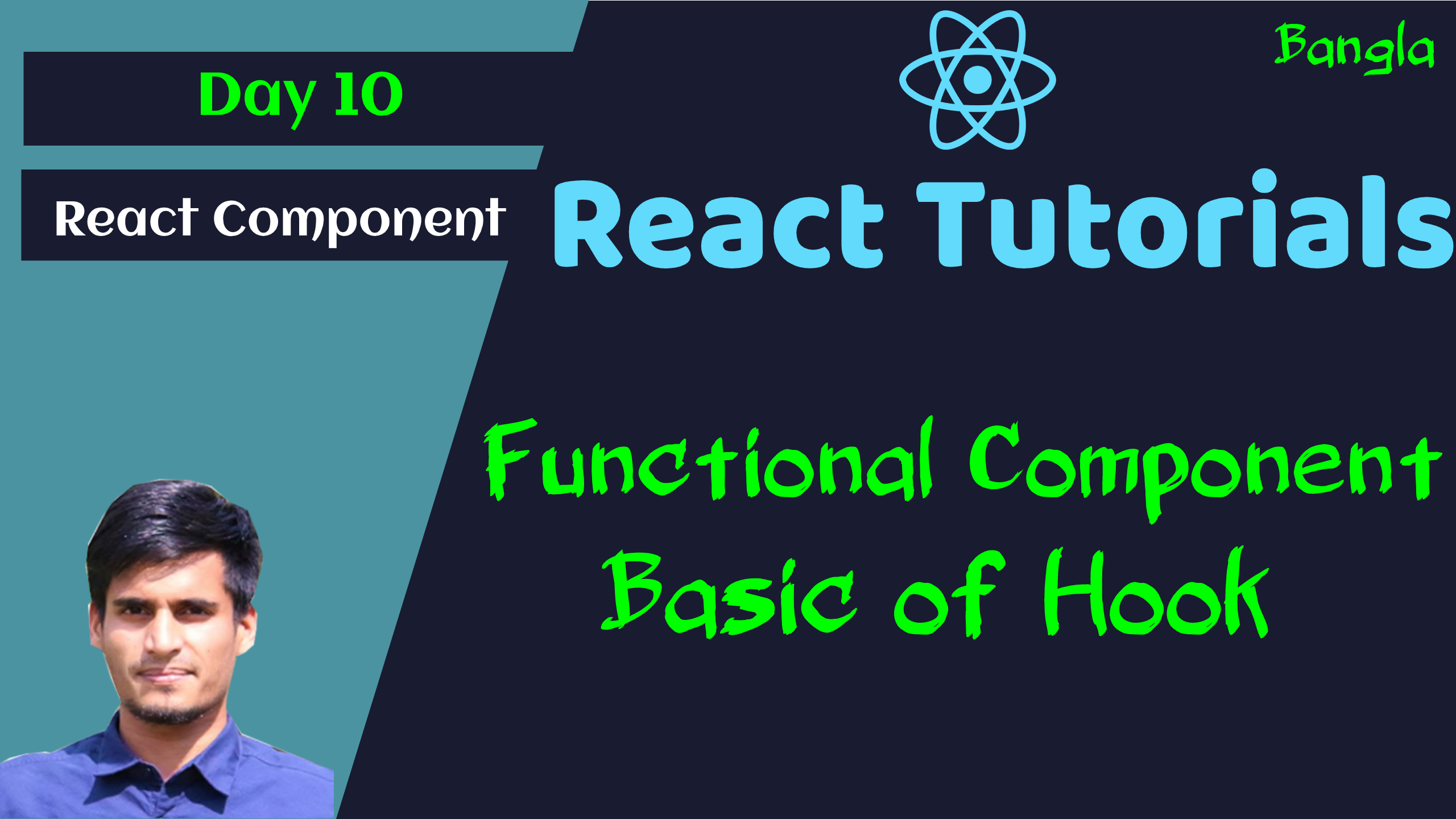 #10 - Functional Component in React - Access State Data, Update them in Functional Component
