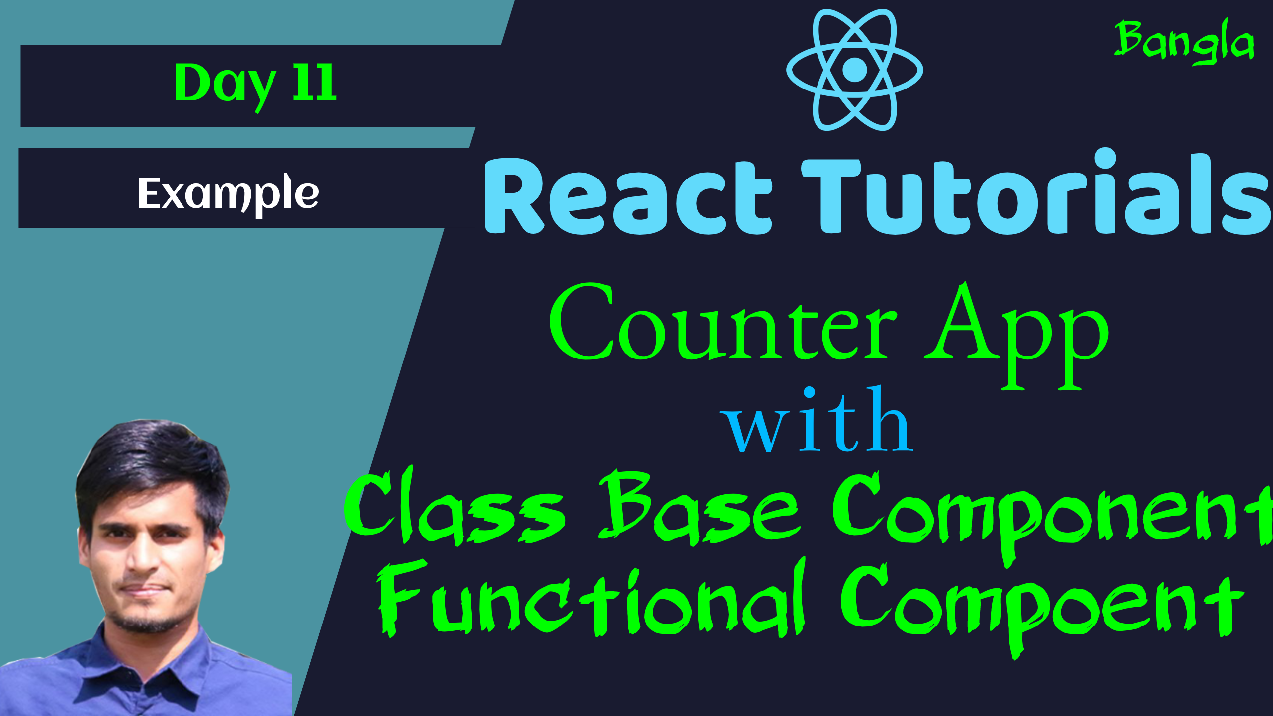 #11 - Simple Counter App in React JS - with Functional and Class Based Component
