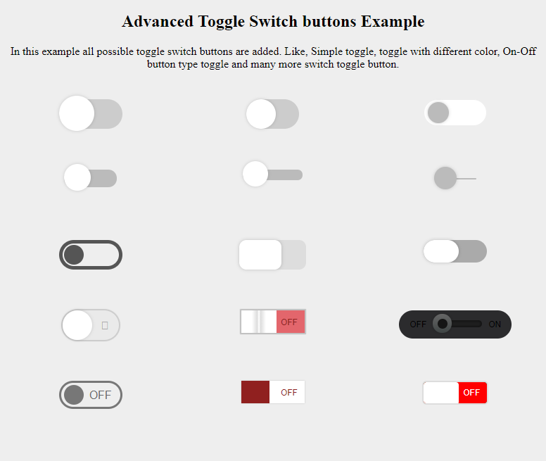 How to create amazing switch-toggle button using HTML and CSS